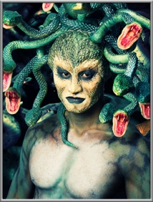 特效化妆师:刘明月;作品名称:蛇王