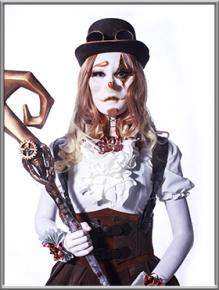 特效化装师:刘正洁;作品名称:机械小丑约瑟安娜